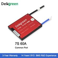 Deligreen 7 S 60A 24 в PCM/PCB/BMS для литиевой батареи 18650 Li-Po LiNCM аккумулятор