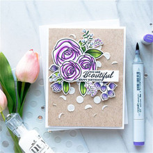 14*14cm Flower Blessed Stamp Scrapbooking New 2019 Album Embossing Silicone Transparent Clear Stencils