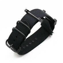 Купить с кэшбэком Rubber strap men's pin buckle watch accessories for Suunto core nylon strap outdoor sports waterproof bracelet men watch band