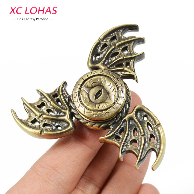 2017 New Dragon Wings Finger Spinner Dragon Metal Stress Relief  Spinner Finger Toys Kids Fun Toys Birthday Gifts