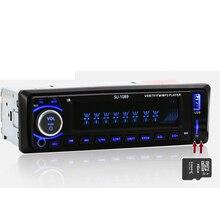 Авто радио Автомобильный Радиоприемник 12 В Bluetooth V2.0 SD USB MP3 WMA Аудио Автомобильные cd В тире 1 Din FM Aux Вход приемник