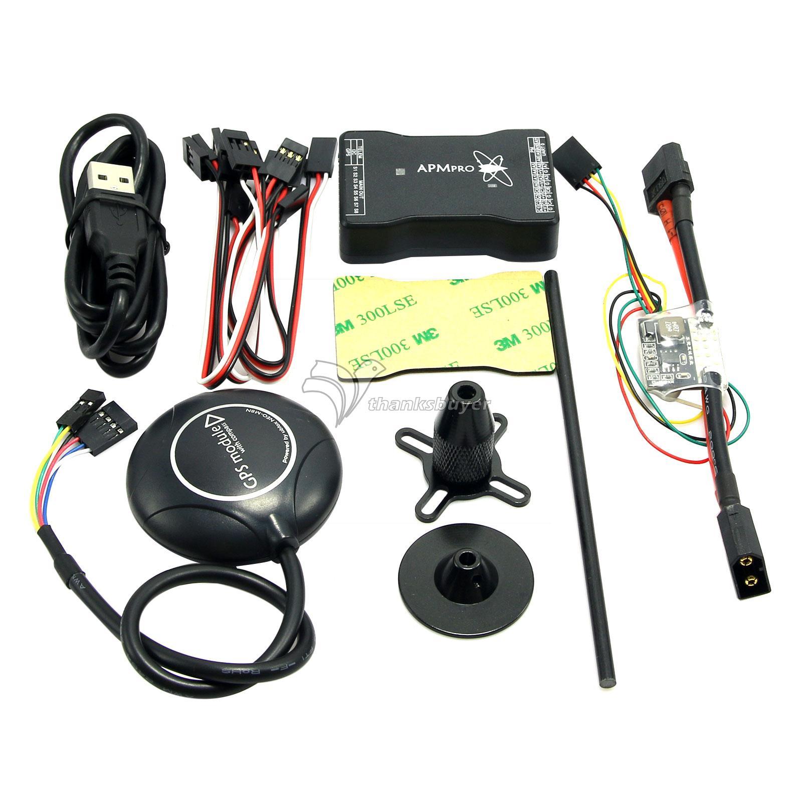 Nouveau Mini contrôleur de vol APM PRO avec Neo-M8N GPS et Module d'alimentation et câble de données pour Drone FPV