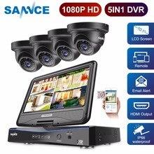 SANNCE Full HD 1080p CCTV камера системы 4CH товары теле и видеонаблюдения DVR с 10,1 'ЖК дисплей шт. 4 шт. Открытый безопасности комплект