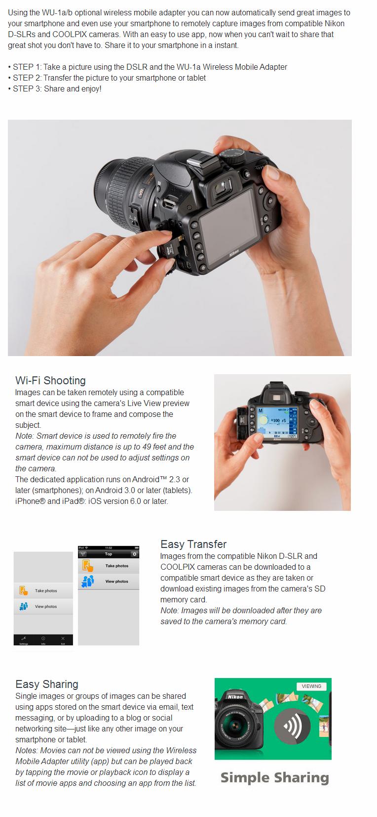 Nikon WU-1a Wireless Mobile Adapter 27081