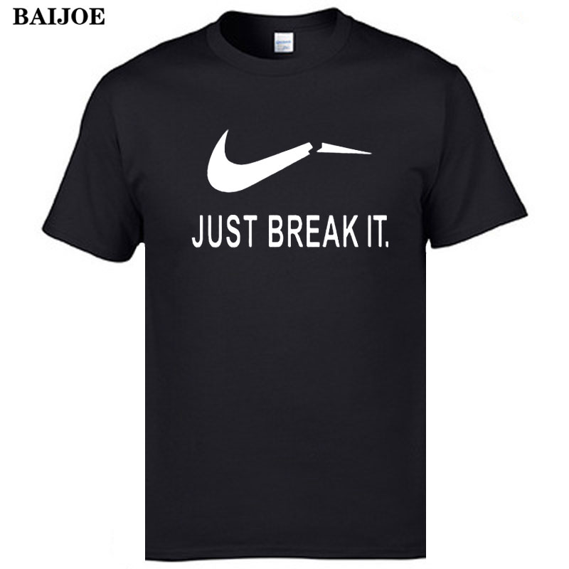 Baijoe new camisetas just break it t shirt mens graphic t for Just hip hop t shirt