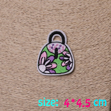 2017year New arrival 1PC colorful wallet cute Iron On Embroidered Patch For Cloth Cartoon Badge Garment Appliques DIY Accessory
