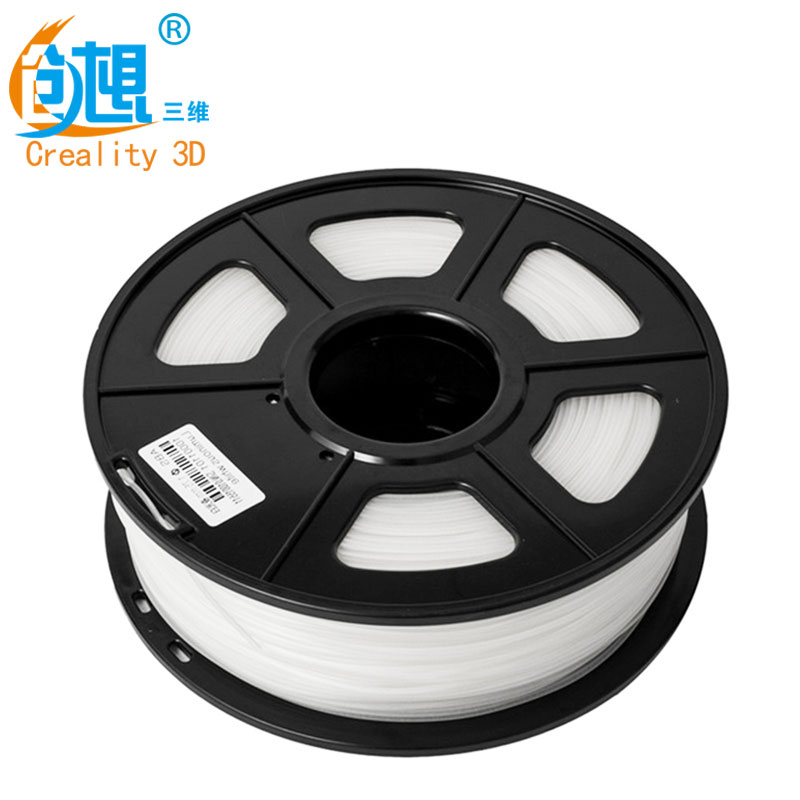 2KG/Lot Cheap CREALITY 3D 1.75mm PLA filament White Color High quality PLA filament For FDM 3D Printer FFF 3D Printer Green ppyy new 2pcs high quality 3mm white pva dissolvable 3d printer filament 60m 0 5kg 1 1lbs 30 60mm s include spool and leathe