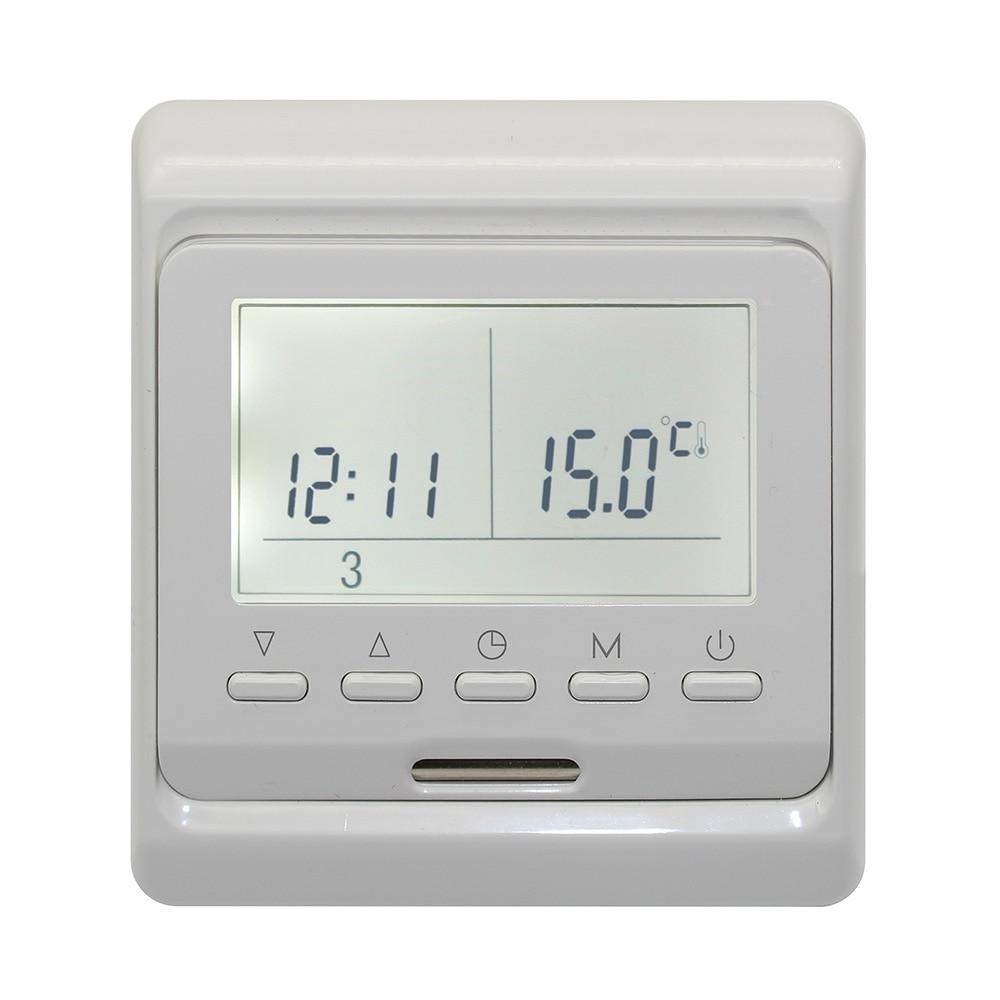 mit heizung sensor programmierbarer thermostat elektrische digitale fu bodenheizung raumluft. Black Bedroom Furniture Sets. Home Design Ideas