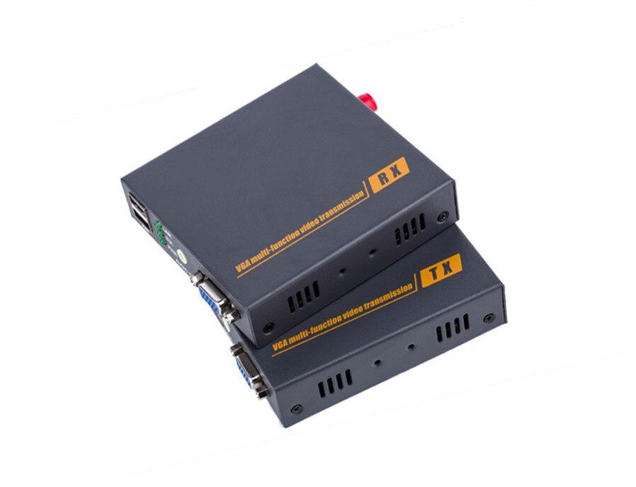 VGA optical transceiver KVM mouse and keyboard optical fiber transmission 20 km independent audioVGA optical transceiver KVM mouse and keyboard optical fiber transmission 20 km independent audio