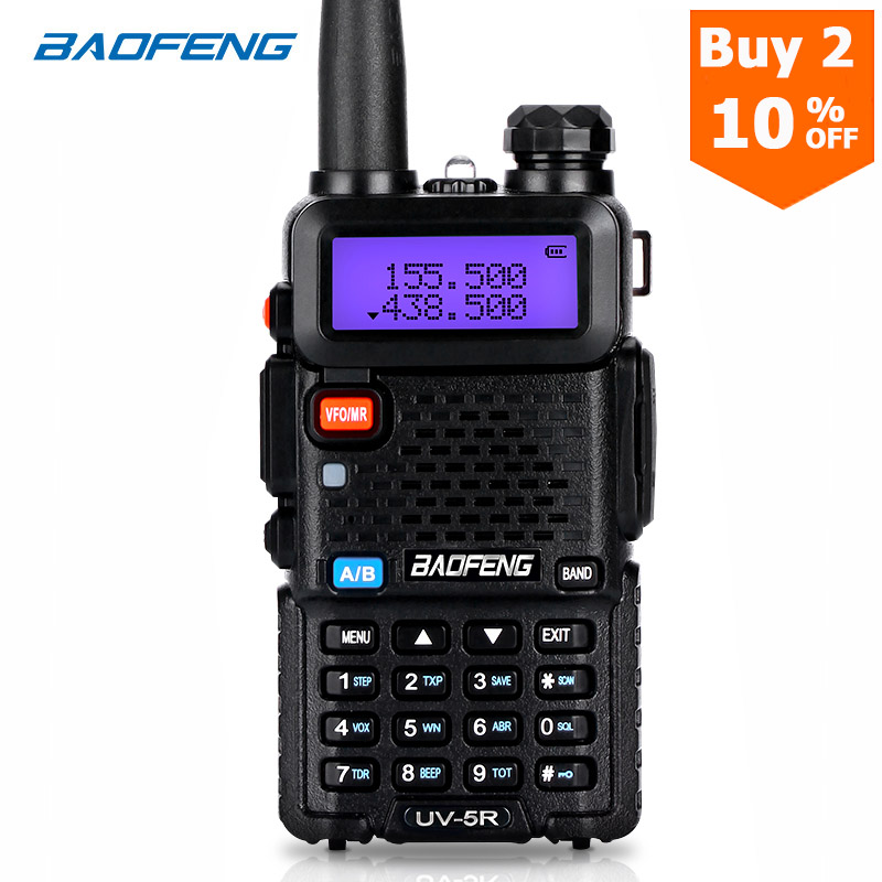BaoFeng Walkie Talkie UV-5R Two Way Cb Radio Upgrade Version Baofeng Uv5r 128CH 5W VHF UHF 136-174Mhz & 400-520Mhz
