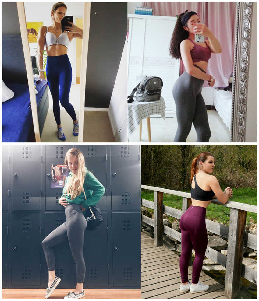 30a3e5a8df ... Women's Butt Lift Sport Leggings Hollow Out Fitness Gym Leggings  Seamless Slim Compression Squat Tights High