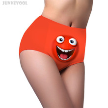 Underwear Women Panties High Cut Funny Emoji High Waist New font b Sexy b font font