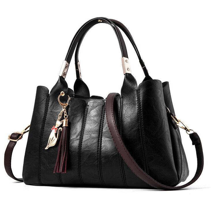 RUILANG WOMEN Fashion PU Leather Handbags Female Designer Large Casual Shoulder Bags Crossbody Bag Ladies PU Leather Hand Bag