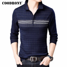 COODRONY Brand Sweater Men Knitwear Pull Homme Turn-down Collar Pullover Shirt Autumn Winter Warm Cotton Wool Sweaters 91040