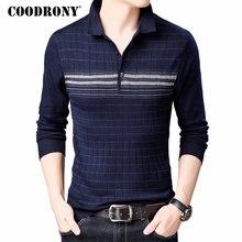 COODRONY ยี่ห้อเสื้อกันหนาวผู้ชายเสื้อกันหนาวดึง Homme Turn Down COLLAR เสื้อผู้ชายฤดูใบไม้ร่วงฤดูหนาว WARM Cotton เสื้อขนสัตว์ 91040