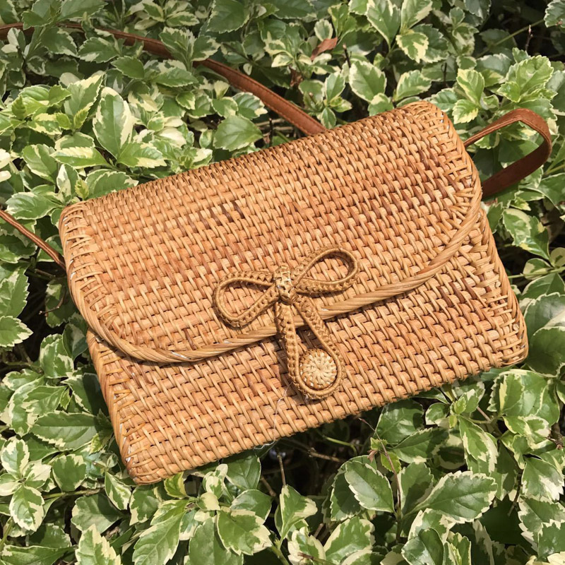 New Fashion Bali Bohemia Beach Flap Bag Island Hand Woven Bag Square buckle Rattan Straw Bags Satchel Wind bag все цены