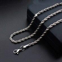 2,5 мм, 3 мм, 4 мм, серебряная цепочка, ожерелье s для мужчин, нержавеющая сталь, серебро, Роло, пшеница, коробка, змеиная цепочка, мужское ожерелье, классика, 18-26 дюймов