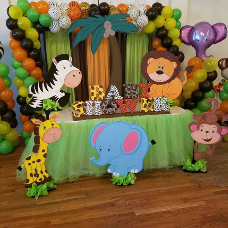 Birthday Party Decorations Kids Animal Balloons Jungle Safari Party