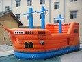 Пиратский корабль пвх 0.55 мм аниме мультфильм надувной замок прыжок кровать батут дети крытый и открытый игрушка 8 м * 4 м / шт