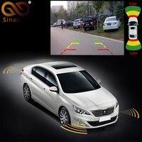 Двухканальный автомобильный Видео парковочный радар Сенсор спереди и сзади 8 Сенсор s 2 видео Камера Вход для монитора автомобиля Android dvd пле