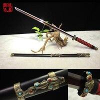 108 cm chino sword doblado de acero verde bronce fungshui jian decoartion casa arte marcial de suministro