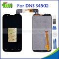DNS-S4502 toque Digitador Da Tela + Display LCD Para DNS S4502 S4502M Highscreen Impulso Cloudfone Thrill430X innos D9 D9C + Ferramentas