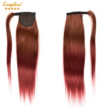 Originea straight wrap around Ponytails Hair for black women Remy Human Hair Ponytail Extensions Brazilian Wrap Around Ponytail