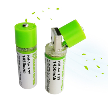 1.2V AA 1450mAh Ni-MH rechargeable battery USB AA charging 1.2v battery