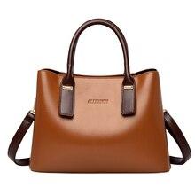 Fashion Handbags Women Top-handle Leather Message Bags Female Casual Tote Ladies Brown Crossbody 2019 bolsa feminina