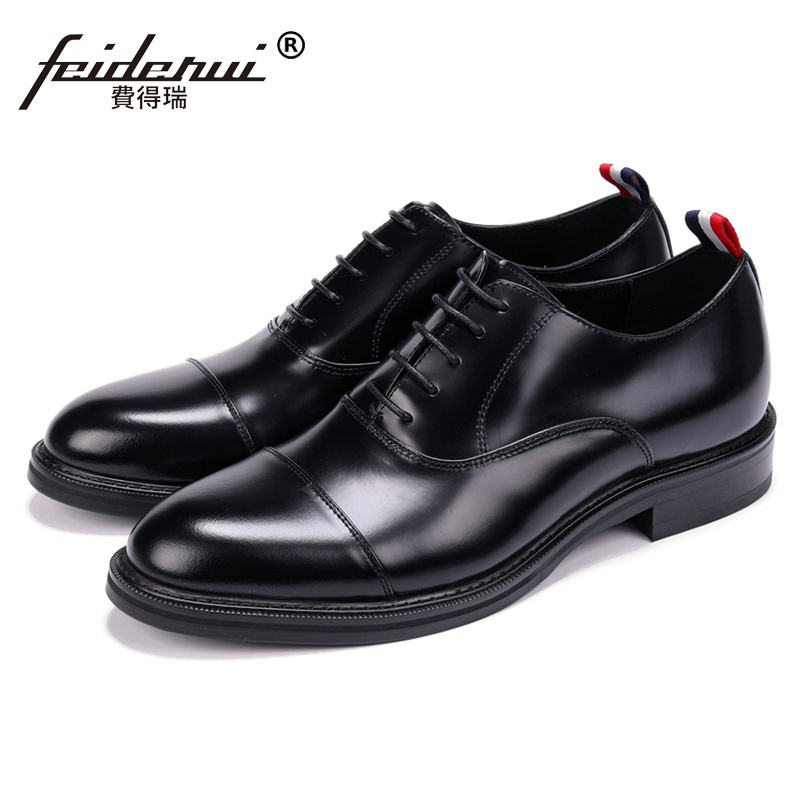 New Fashion Man Quarter Brogue Wedding Shoes Genuine Leather Party Oxfords Round Toe Platform Men's Formal Dress Flats JS188 халат мужской five wien home цвет слоновая кость 463 размер xxxxl 56 58