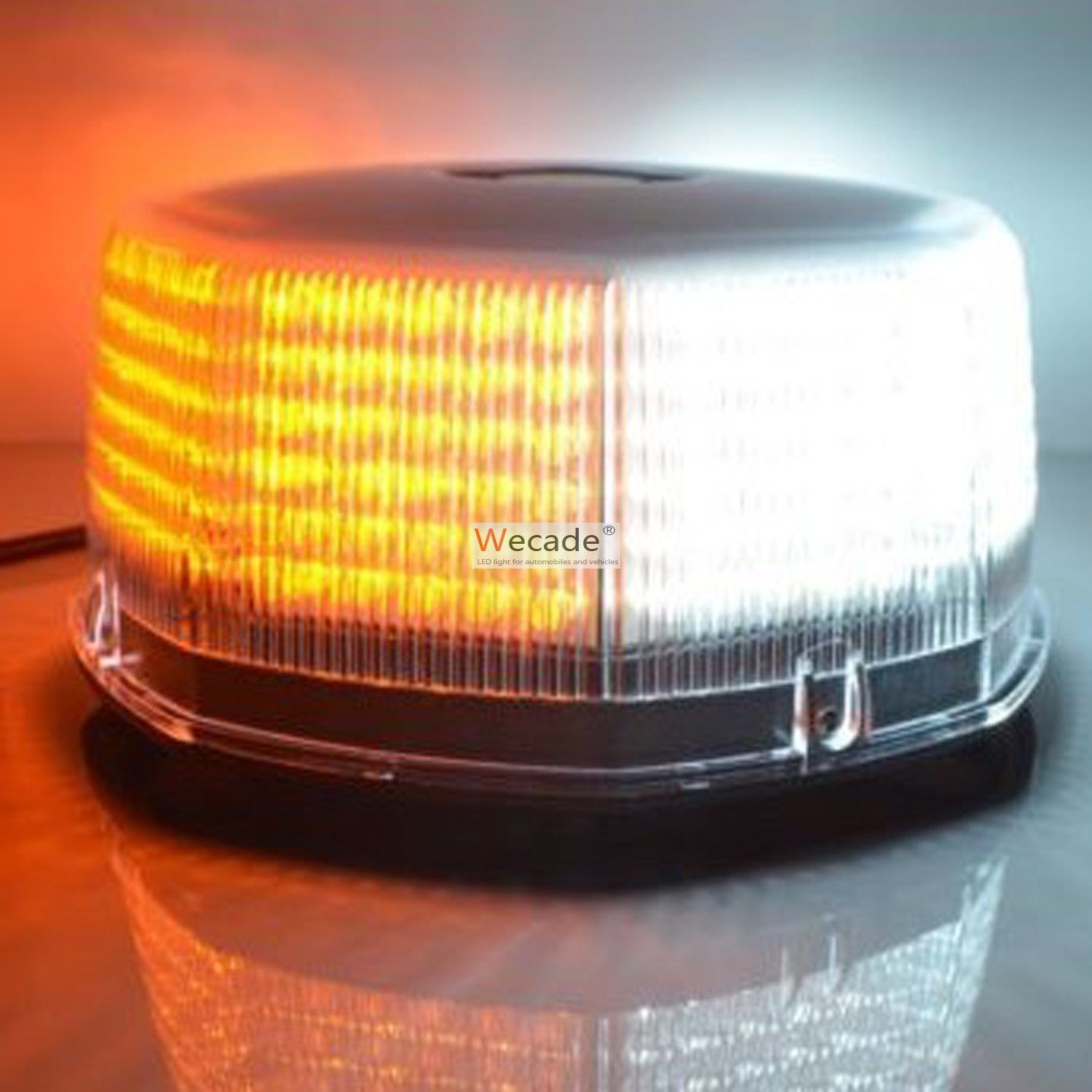 240 LED Car Truck Flash Strobe Round Rooftop Emergency Light Amber/White ...