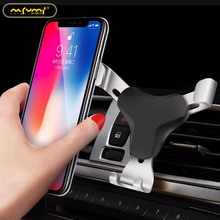 лучшая цена Car Phone Holder Universal Air Vent Mount Clip Holder Portable For Phone Car No Magnetic Mobile Phone Stand Holder Smartphone