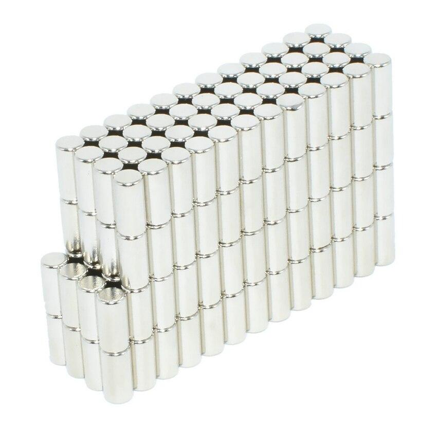 NdFeB диаметрально магнит стержень Диаметр 4x6 мм N42H Precision DIY эксперимент Центр-менее шлифовальные изготовление размеров под заказ