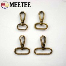 Meetee 5pcs Metal Lobster Rotating Brass Spring Buckle ID20/25/32/38mm BF207 Key Hook Dog Buckles Luggage Hardware Accessories