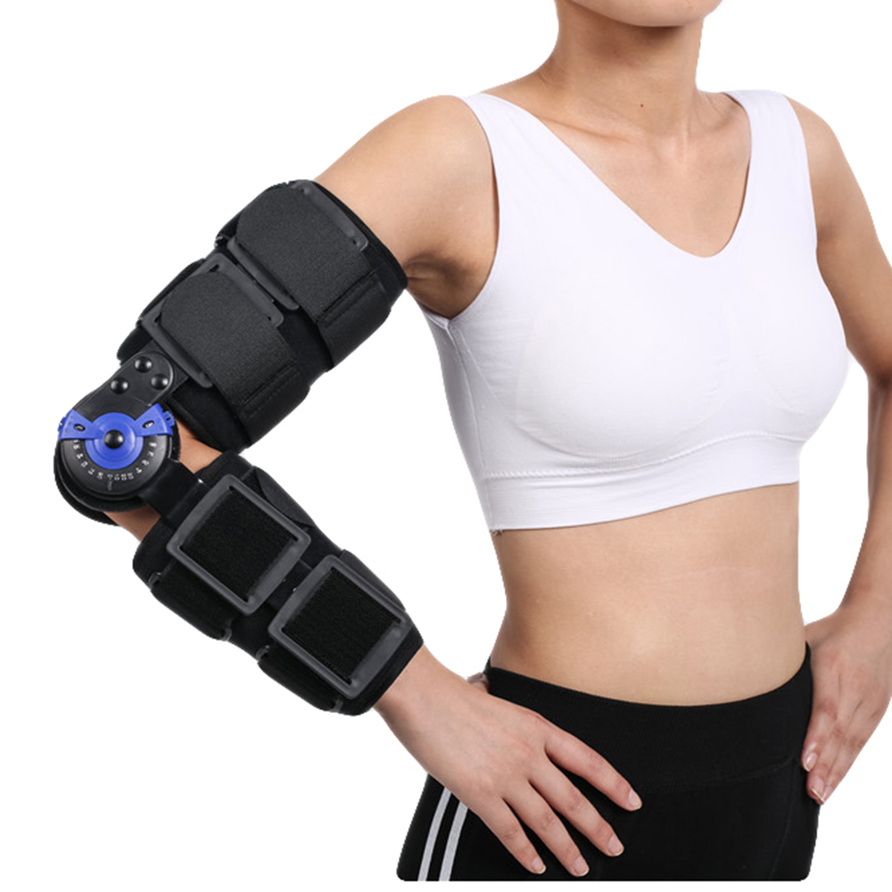 Free Size ROM Hinged Elbow Brace Arm Support Orthosis for Unstable Elbow Joint with Injuries and Postoperative Nursing Care elbow elbow leaders of the free world deluxe edition 2 cd dvd