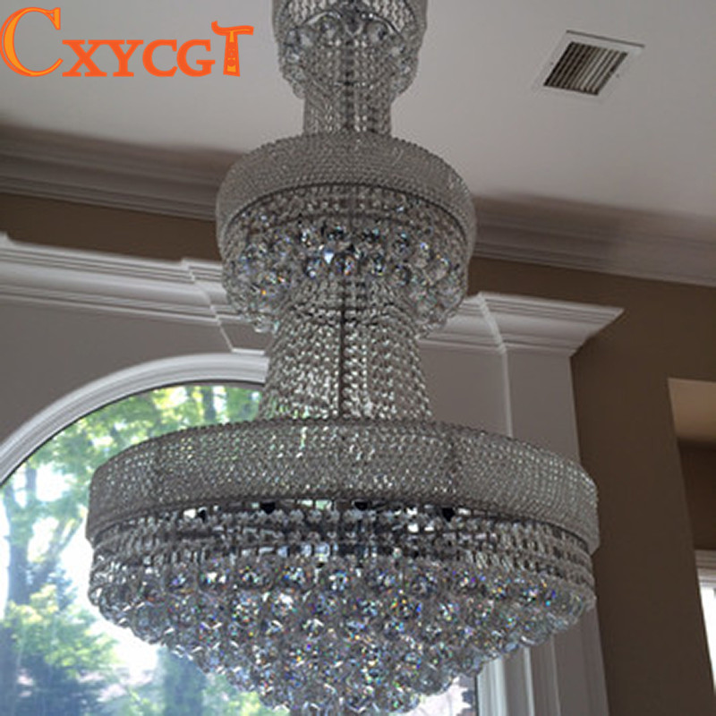 Empire 24 Light Large Gold Silver Crystal Chandelier for Hotel Hobby -in  Chandeliers from Lights   Lighting on Aliexpress.com  c0ef21e2437e