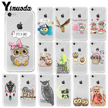 Yinuoda Cute cartoon owl couple love TPU Soft Silicone Phone Case Cover for Apple iPhone X XS MAX 8 7 6 6S Plus 5 5S SE XR