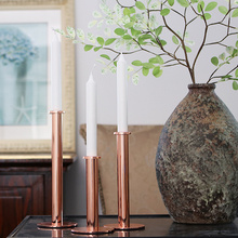 PINNY Nordic Simplicity Pillar Candle Holder European Metal Centerpiece Home Decoration Accessories Wedding Candlestick
