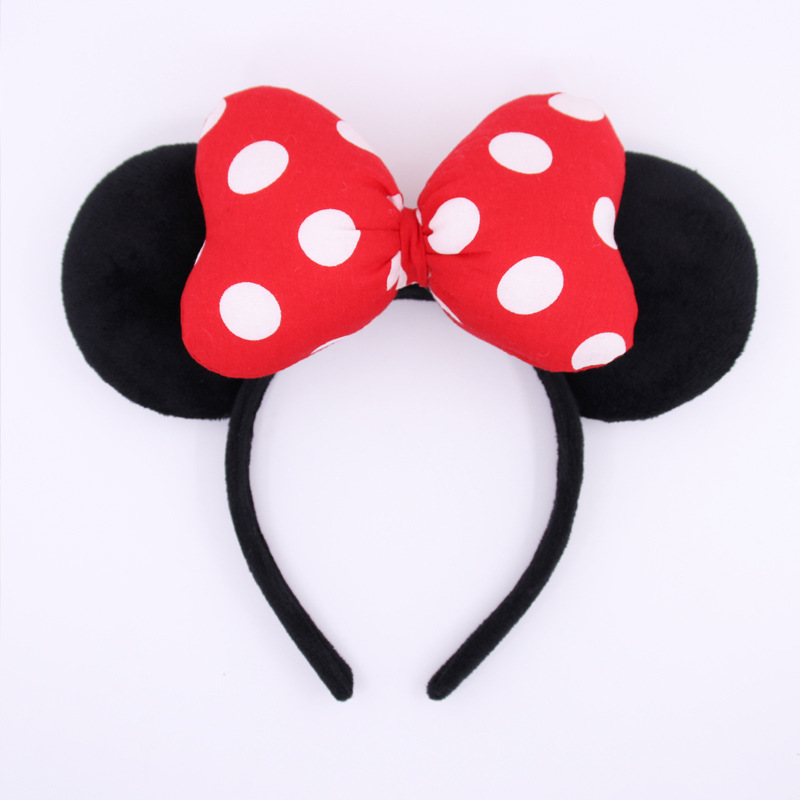 High-quality Full Sweet Cute Mickey Hair Hoop Headband Hairband for Women Girls Bezel Hair Band Hair Accessories New years Gift new hair claw for women girl elegant high quality hair clip party decorations holiday gift accessories