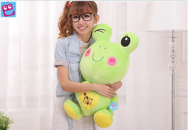 Stuffed animal 60cm lovely  frog plush toy love you  frog doll throw pillow gift w3769 couple frog plush toy frog prince doll toy doll wedding gift ideas children stuffed toy