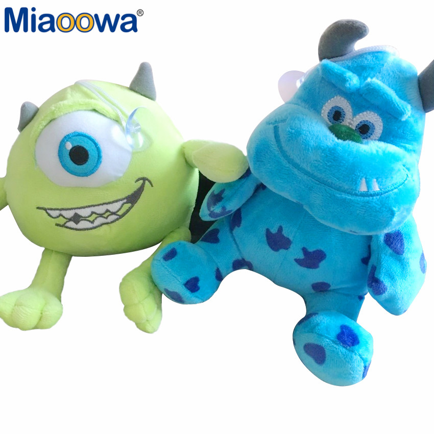 2pcs/set 20cm Funny Inc Mike Wazowski+James P. Sullivan Plush Toy For Kids Gift