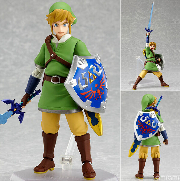 The Legend of Zelda Action Figures Link Figma Game Toys 160mm PVC Japanese Anime Figures Legnd of Zelda SkywardSword Juguetes legend of zelda action figure toys 10cm pvc nintendo 3ds zelda manga figma zelda link vinyl doll