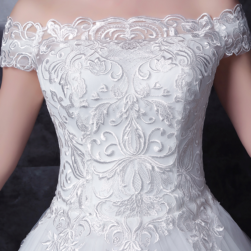Купить с кэшбэком long half sleeve muslim lace wedding dress high quality 2020 bride simple bridal gown real photo weddingdress vestido de noiva