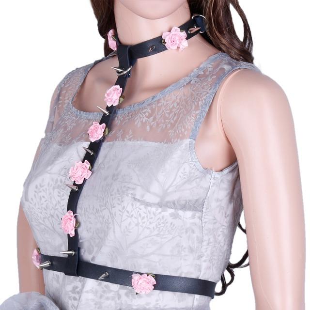 Arnés goth pastel cinturones mujeres anchas de piel cummerbunds correa para mujeres Sexy marca nuevas de cuero cinturones de arnés