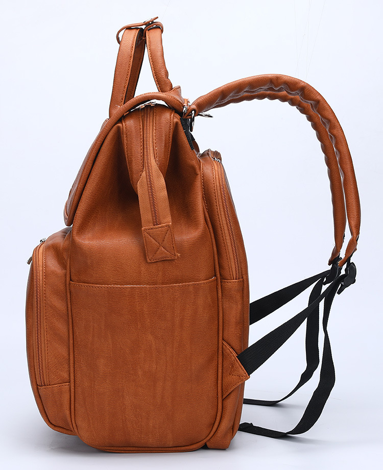 PU Leather Nappy Backpack - The Bags Factory NZ & AU