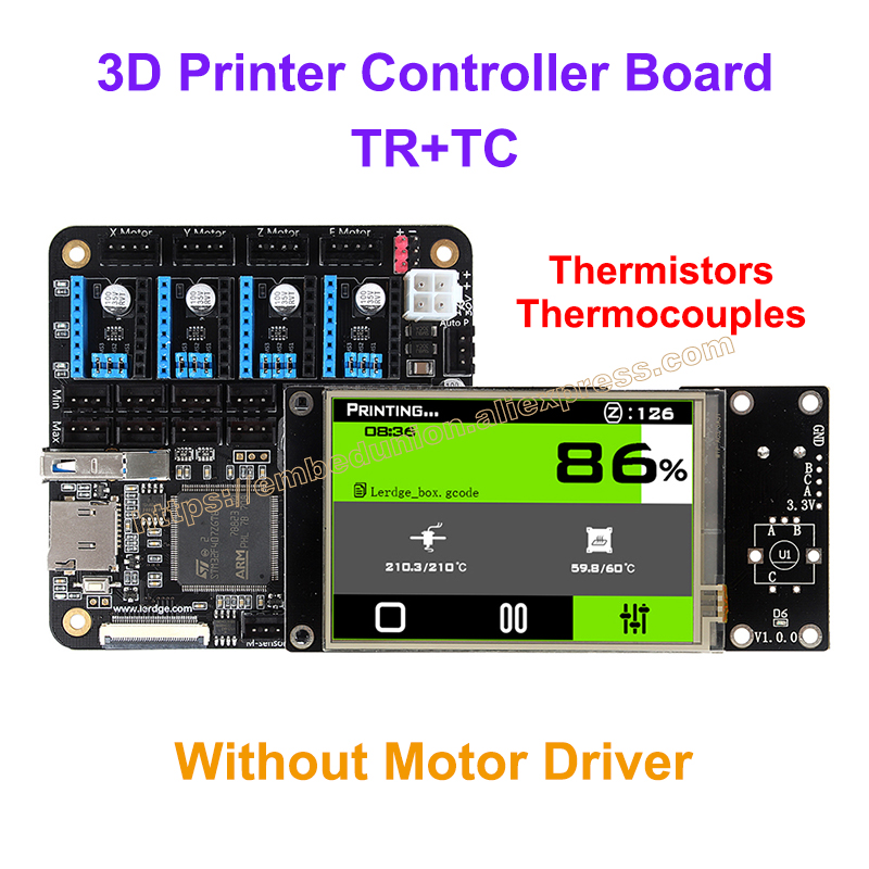 все цены на  3D Printer Controller Board for Reprap 3d printer motherboard with ARM 32Bit Mainboard control with 3.5