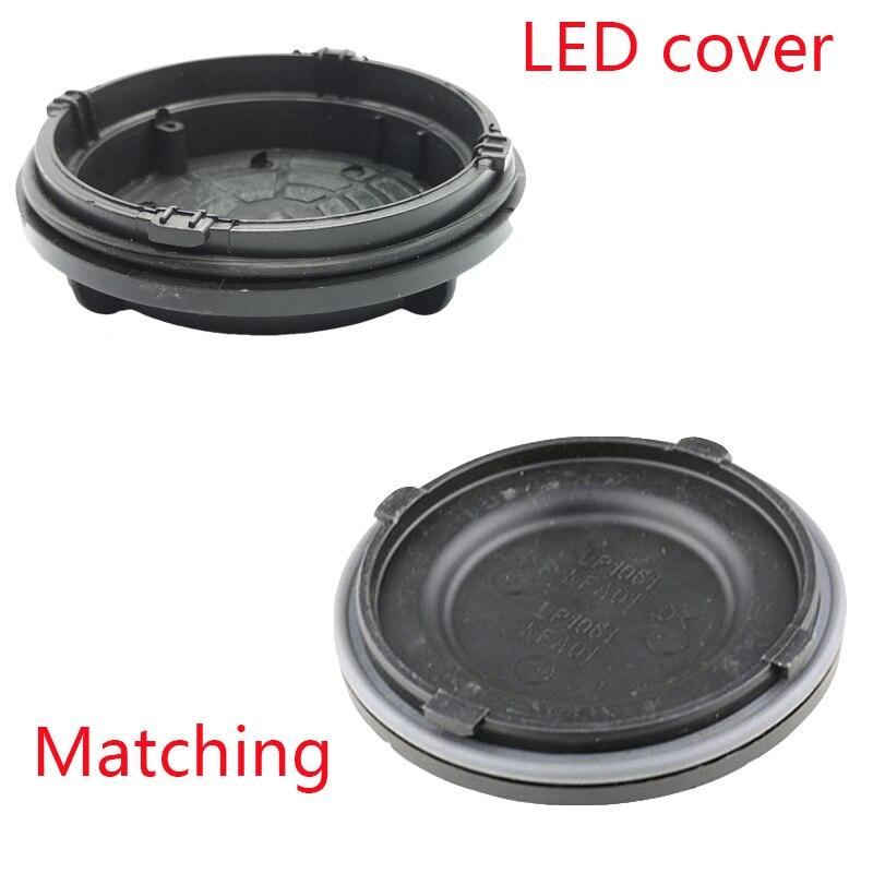 1 pc Outlander 3rd 2017 phare couverture arrière Led extension cache-poussière Hid lampe couvercle plaque H7 Y1009J Y1088Y