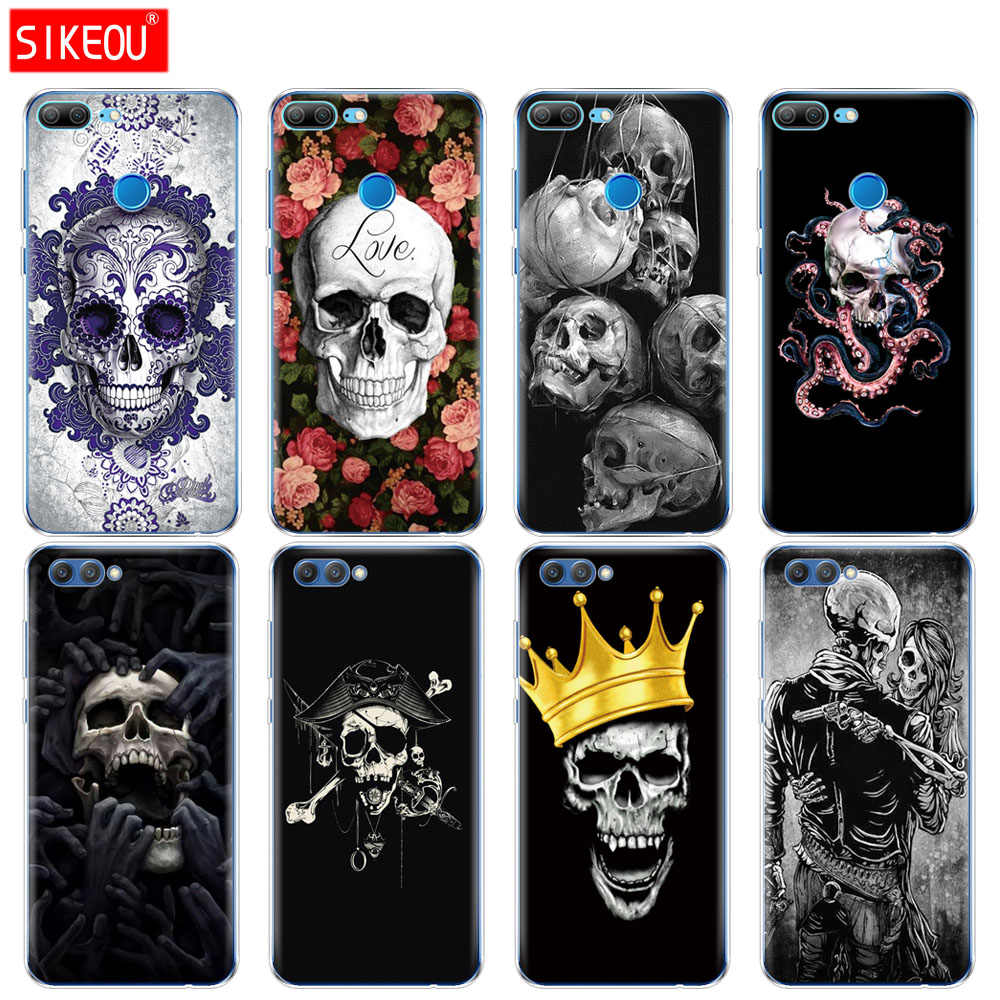 Silicone Cover phone Case for Huawei Honor 10 V10 3c 4C 5c 5x 4A 6A 6C pro 6X 7X 6 7 8 9 LITE skull skeleton ghost