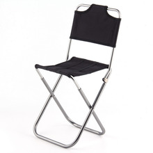 2017 Portable Folding Outdoor Fishing Camping Chair Aluminum Oxford Cloth Chair with Backrest Carry Bag Black drop shipping