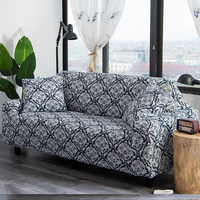 Knitting fabric thicken sofa Cover elastic Print floral super soft seat removable couch covers stretch banquet Hotel Double seat